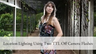 location back lighting using two ttl off camera flashes aeocl canon nikon yongnuo