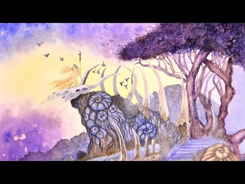 Speedpainting Watercolor Demo from Dreamscapes Book | Path of Ancients