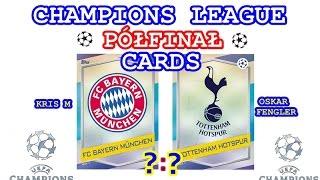 Półfinał - Champions League Cards 2016/17 - Bayern - Tottenham - karty Match Attax - Topps