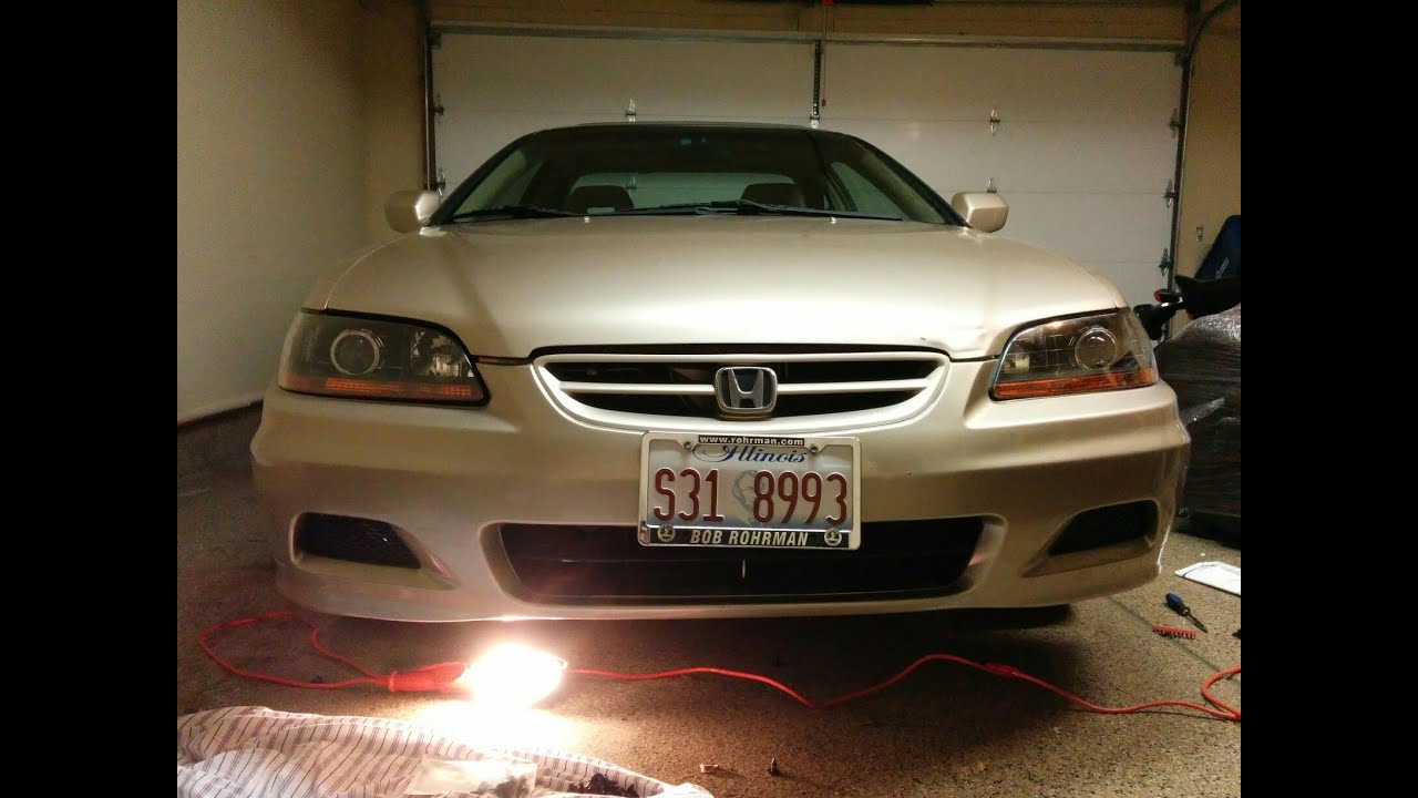 How To Replace Headlights On 6th Gen Honda Accord 1999 2002 Diy Youtube