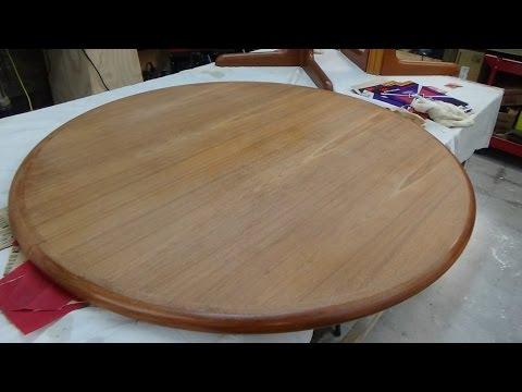 Teak Table Refinish Part One The Prep Work Youtube