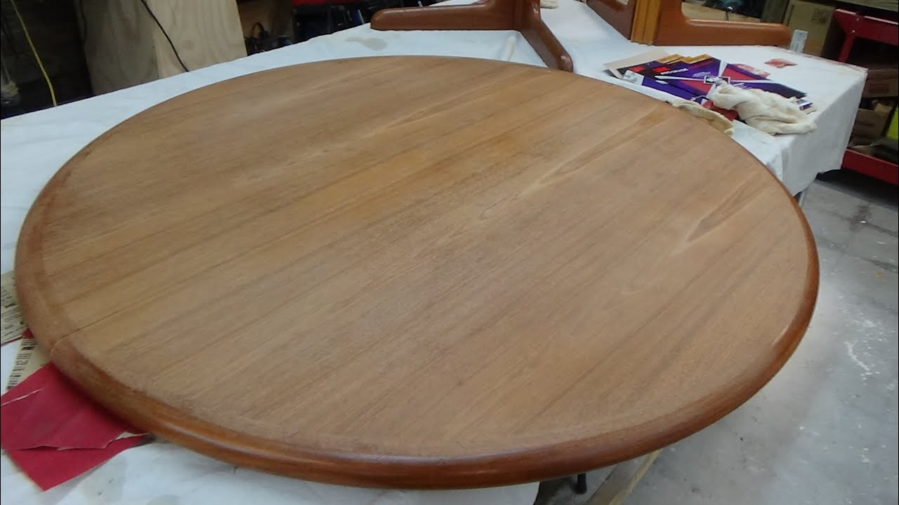 Attirant Teak Table Refinish   Part One  The Prep Work