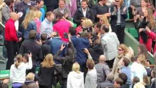 Rafael Nadal Roland Garros final 2012 celebration with family and team HD