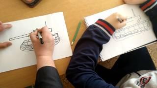 Как нарисовать танк поэтапно / How To Draw A Realistic Tank