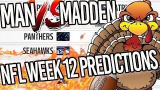 🍈LIVE: Predicting Every NFL Week 12 Winner / Man v Madden
