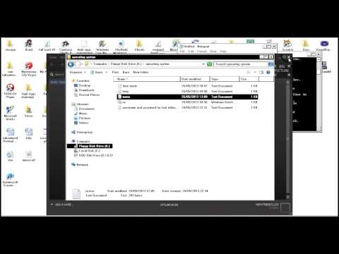 how to make a os like program in notepad