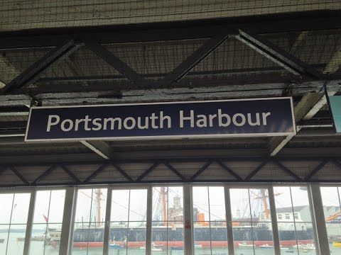 Full Journey on South West Trains from London Waterloo to Portsmouth Harbour (via Basingstoke)