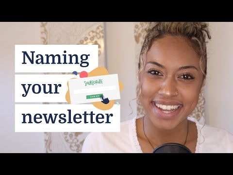 How to name your newsletter