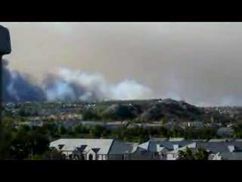 Another fire breaks out near Magic Mountain Parkway