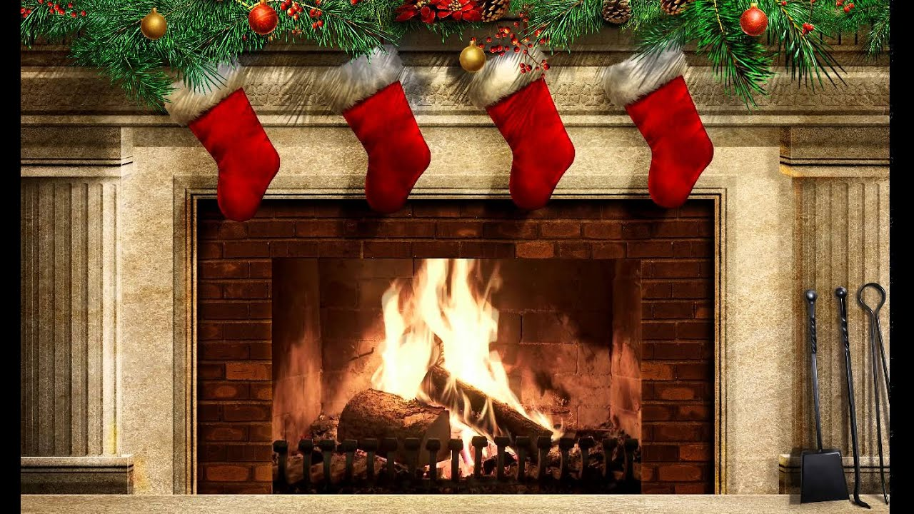 Christmas Decorated Fireplace Screensaver : Christmas fireplace ex v screensaver
