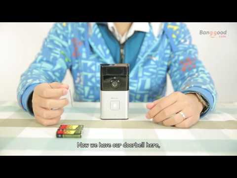 Digoo SB-XYZ Wireless Bluetooth and WIFI Smart Home HD Video DoorBell Camera Phone Ring.