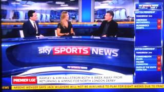 Very Funny German Sky Sports News reporter swears live on TV! 07/03/2014
