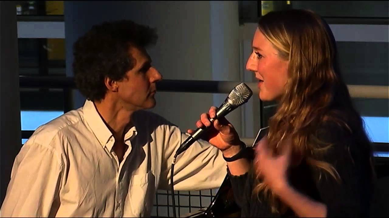 Renate Dorrestein, Rob van Essen en Sietske bij Literatuur Late Night (3 april 2015)