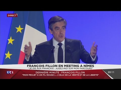 Fantastique meeting de François Fillon à Nimes ! (LCI, 02/03/17, 19h39)