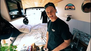U.S. Navy Aviation Technician Moves Into A 2018 DIY Camper Van To Simplify Life & Get Outside