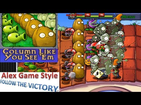 Plants vs. Zombies - Mini Games - Column Like You See 'Em (Android Gameplay HD) Ep.79
