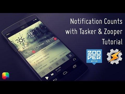 Notification Counts using Tasker & Zooper - Tutorial