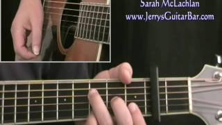 How To Play Sarah McLachlan Angel on acoustic guitar (full lesson)