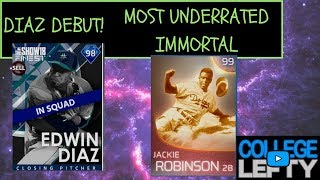JACKIE ROBINSON IS THE MOST UNDERRATED IMMORTAL!! FINEST EDWIN DIAZ DEBUT!! MLB THE SHOW 18