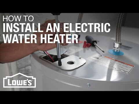 water heater element hookup