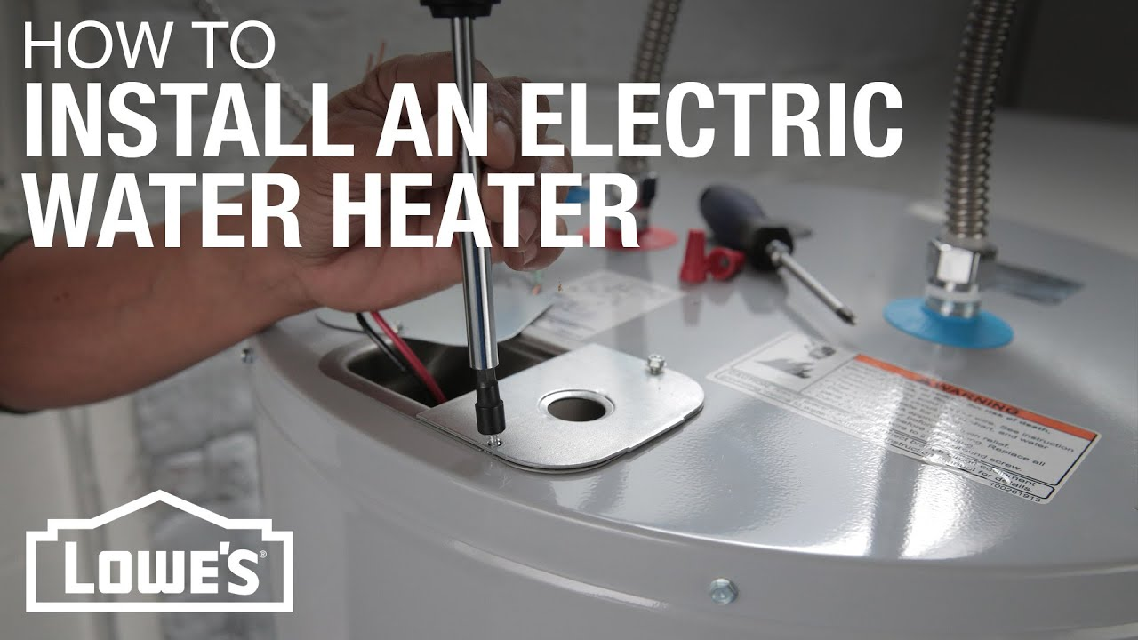 Electric Water Heater Installation  YouTube