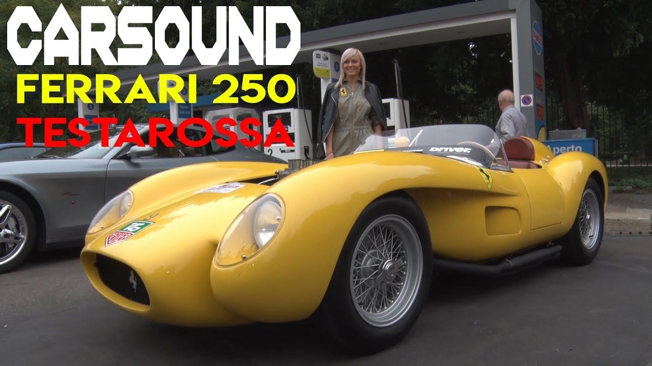 Carsound 1958 Ferrari 250 Testarossa Revving In Milano Youtube