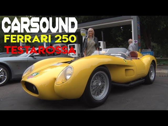 CarSound - 1958 Ferrari 250 TESTAROSSA revving in Milano