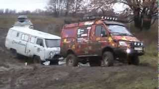 toyota land cruiser 100  и UAZ 2206 и баргузин 4х4 в off road