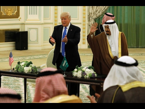 Trump signs Saudi arms deal on first foreign trip