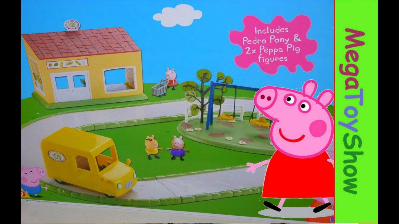 peppa pig supermarket playset peppa pig shopping toys h. Black Bedroom Furniture Sets. Home Design Ideas