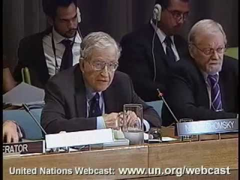 Noam Chomsky at United Nations General Assembly (R2P) - July 23, 2009