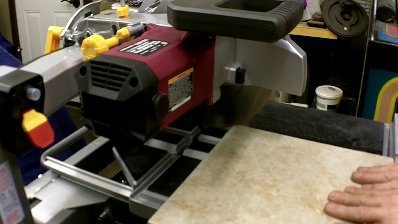 Part 2 Harbor Freight 10 5 Hp Tile Brick Saw Review Item 69275