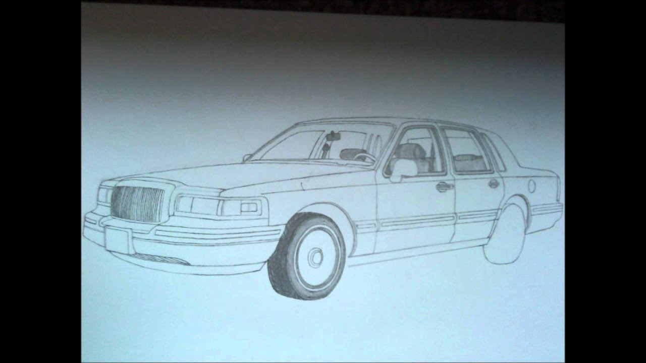 How To Draw A 1997 Lincoln Town Car Youtube