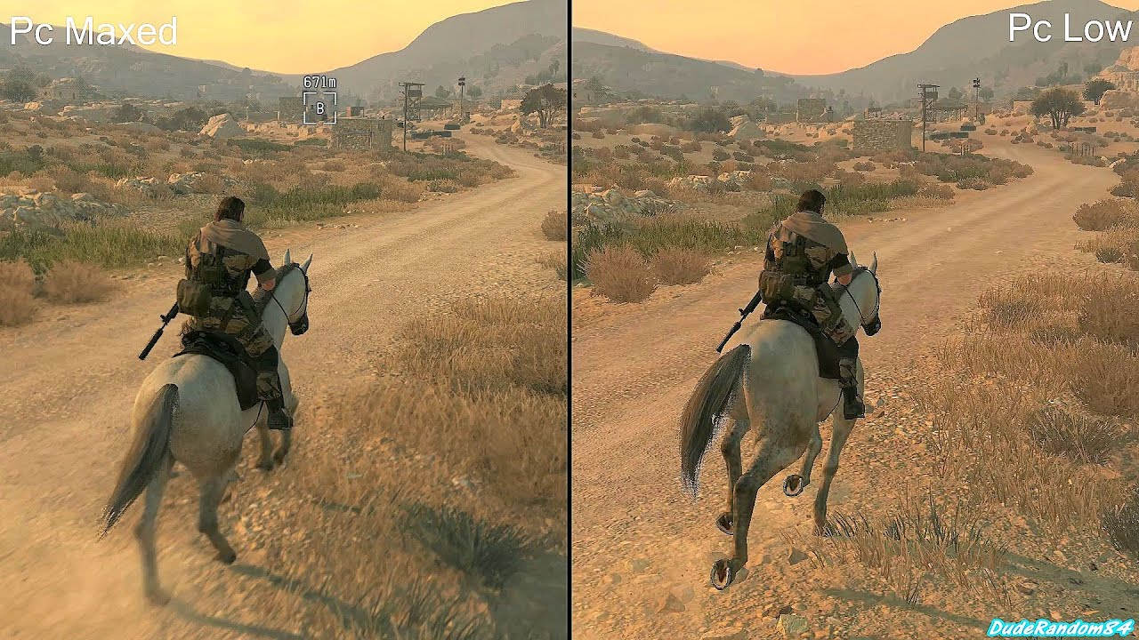 Metal Gear Solid 5 The Phantom Pain Pc Low Vs Pc Ultra