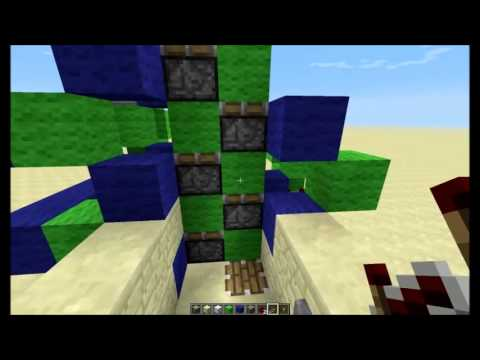 Minecraft 1.6.2 Server Friendly Up and Down Elevator Tutorial ...
