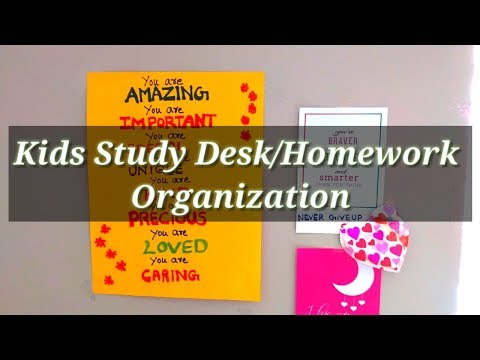 Kids Study Desk Organization / Reading Area (Homework Station) |ART OF HOMEMAKING