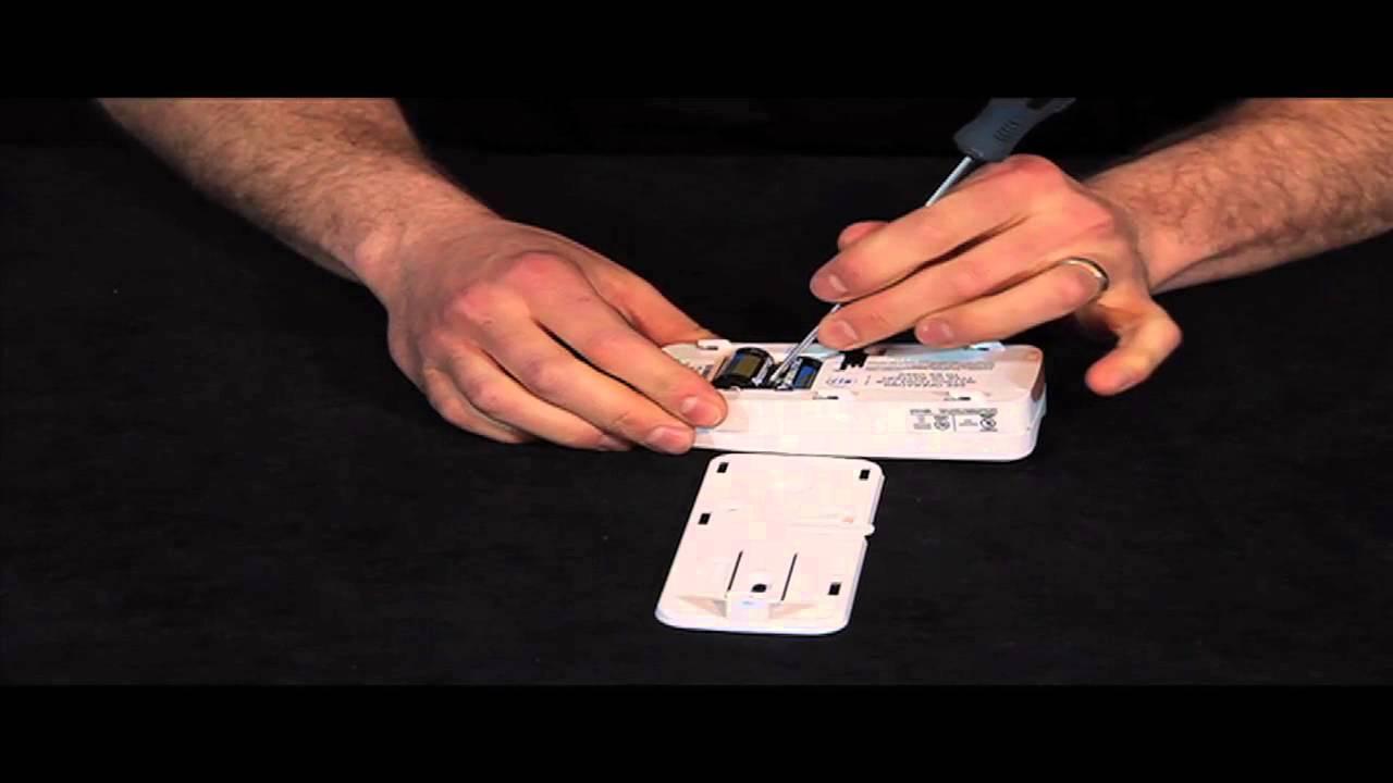 Dsc Wireless Glass Break Battery Replacement Youtube