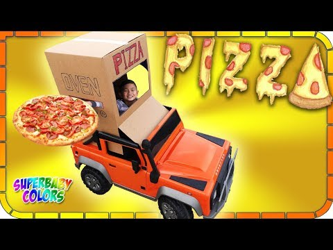 Pretend Play OVEN PIZZA Delivery On Wheels!!!