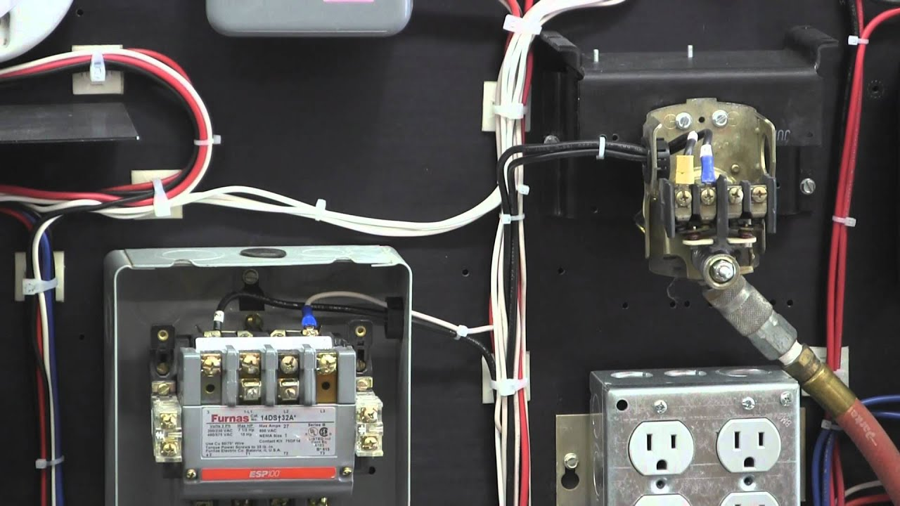 Square D Wiring Diagram Dual Capacitor Fan Switch Pressure For Air Compressor - Youtube