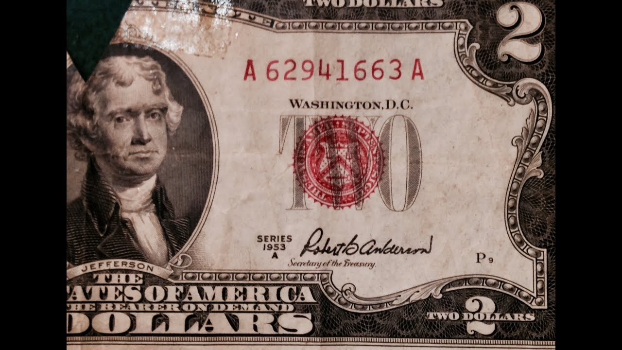Red Seal Two Dollar Bills- 1953 Series A