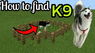 How to find K9 DOG in Minecraft Pe