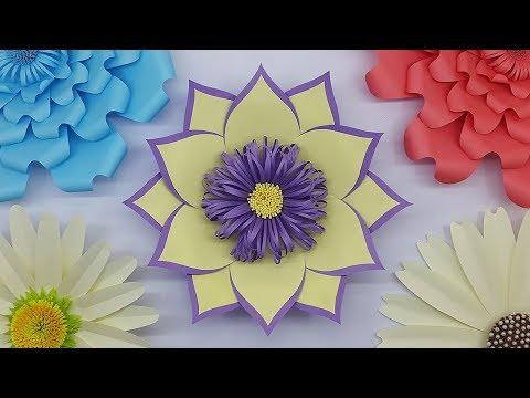 Paper Flower Backdrop for Wedding Decoration   DIY Paper Flowers   Paper Craft