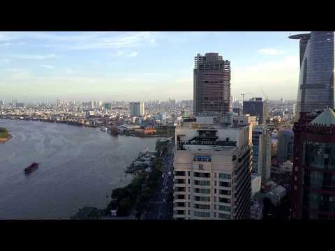 Ho chi minh City Saigon Vietnam from above with DJI Mavic Pro Drone 4K UHD Video