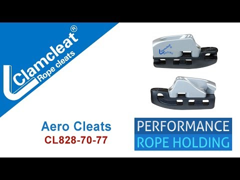 Aero Cleat Range CL828-70-77 - Ideal For Tensioning The Forestay On Dinghies | Clamcleats Ltd
