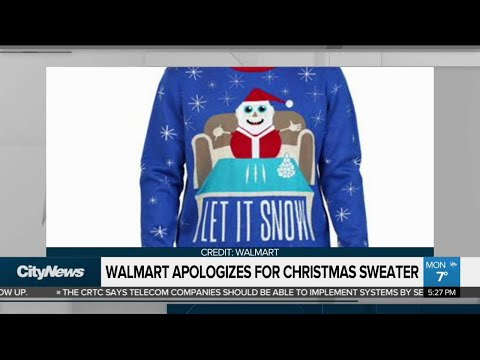 Walmart Apologizes For Cocaine-themed Christmas Sweater
