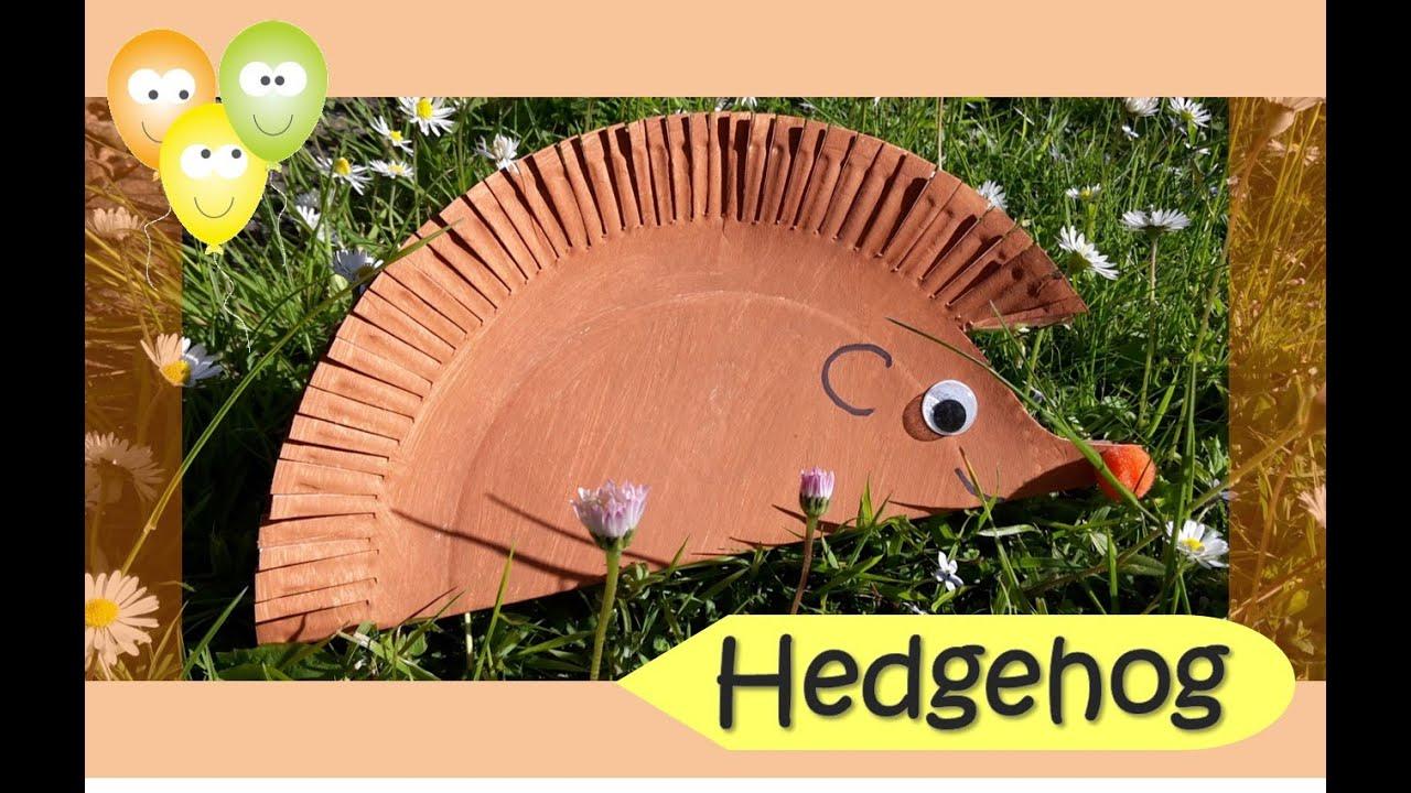 paper plate hedgehog craft - photo #10