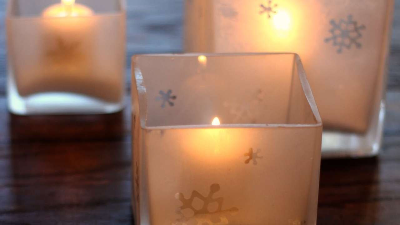 How To Etch Glass How To Etch Your Own Glass Candle Holders Diy Home Tutorial