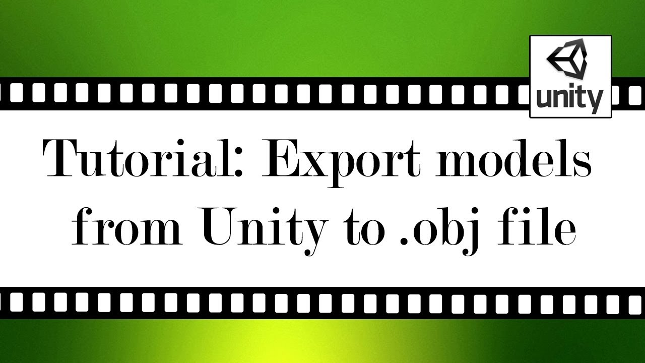 Export model from Unity