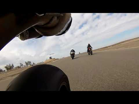 Rear View from Ducati 848 Evo at Buttonwillow Trackday