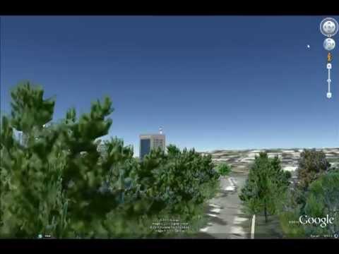 Amman on Google earth